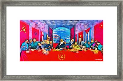 Last Communist Supper 40 - Pa Framed Print by Leonardo Digenio
