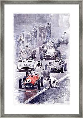 Last Control Maserati 250 F France Gp 1954 Framed Print by Yuriy  Shevchuk