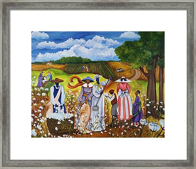 Last Cotton Field Framed Print by Diane Britton Dunham