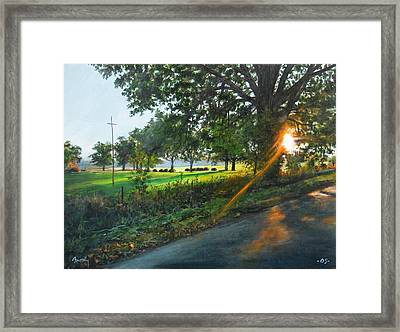 Last Cut Framed Print by William  Brody