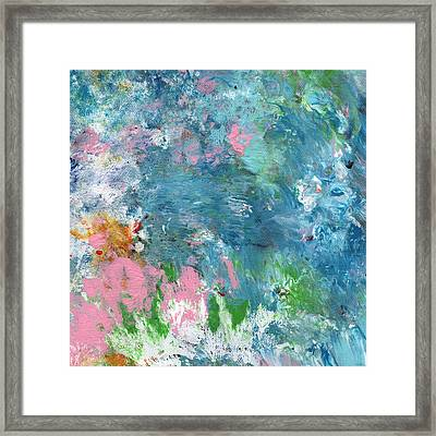 Last Dance- Abstract Art By Linda Woods Framed Print