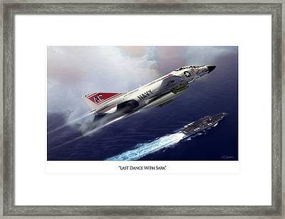Last Dance With Sara V3 Framed Print by Peter Chilelli