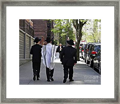 Last Day Of Passover Framed Print by Sarah Loft