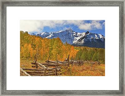 Framed Print featuring the photograph Last Dollar Road - Telluride - Colorado by Jason Politte