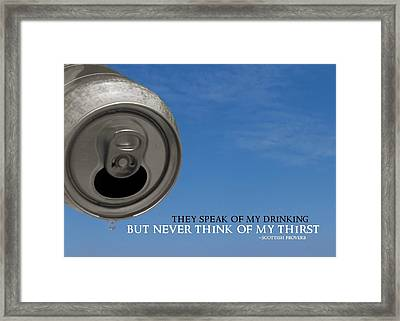 Last Drop Quote Framed Print by JAMART Photography