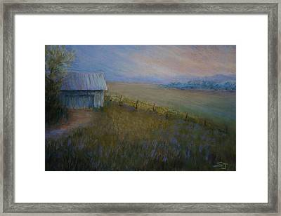 Last Farm Light Framed Print by Susan Jenkins