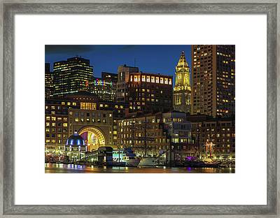 Framed Print featuring the photograph Last Glimpse Of Sail Boston by Juergen Roth