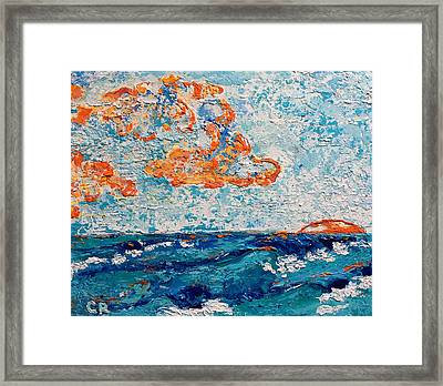 Framed Print featuring the painting Last Glow by Chris Rice
