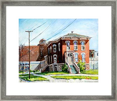 Last House Standing Framed Print by Alexandra Maria Ethlyn Cheshire