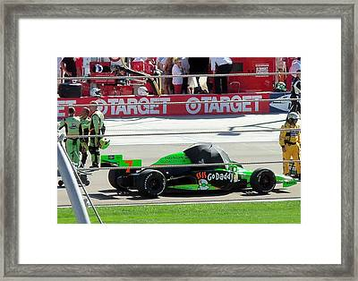 Last Indy Race Framed Print by Trenton Heckman