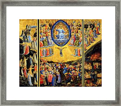 Last Judgment Winged Altar  Framed Print by Fra Angelico
