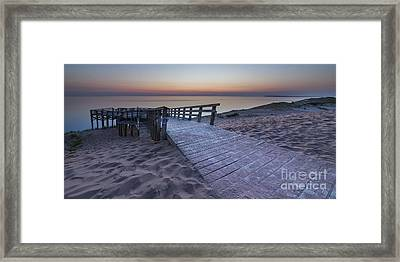 Last Light Along Pierce Stocking Scenic Drive Framed Print