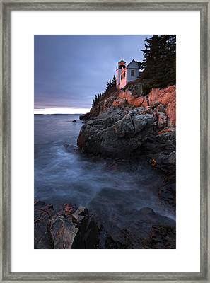 Last Light At Bass Harbor Framed Print by Patrick Downey