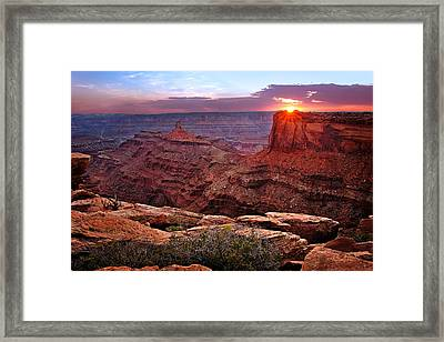 Last Light At Dead Horse Point Framed Print