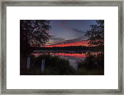 Last Light At Lake Horicon Nj Framed Print by Terry DeLuco