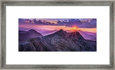 Last Light At The Summit Framed Print