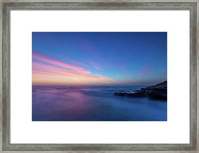Last Light In April, Sunset Clifs Framed Print
