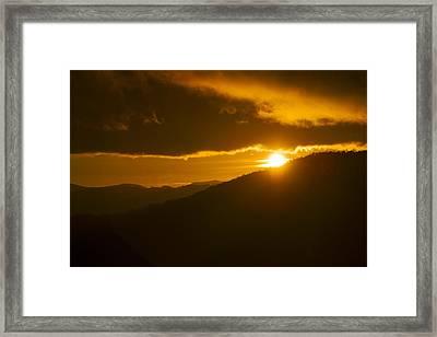 Last Light Of Sunset - Beacon Heights Framed Print