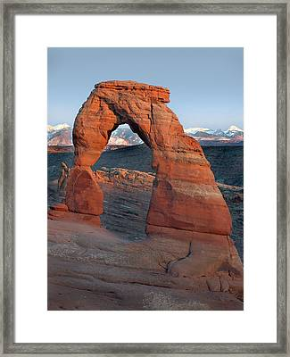 Last Light On Delicate Arch  Framed Print