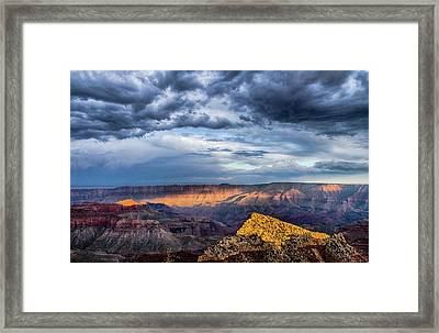 Last Light On Freyas Castle Framed Print