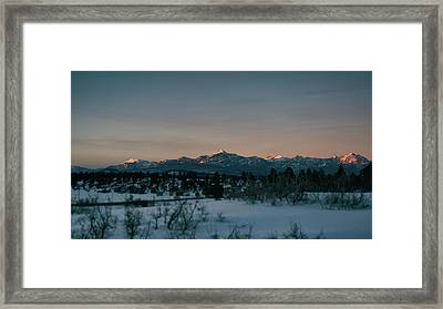 Last Light On Pagosa Peak Framed Print