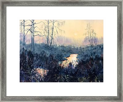 Last Light On Skipwith Marshes Framed Print