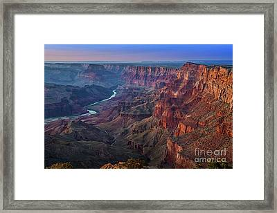 Last Light On The Canyon Framed Print by Jamie Pham