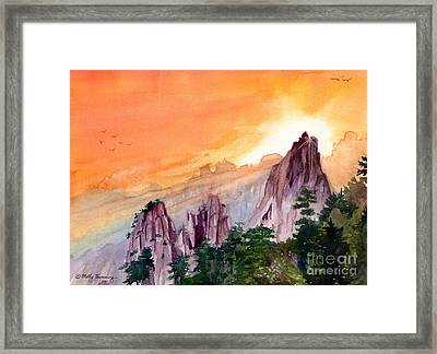 Morning Light On The Mountain Framed Print