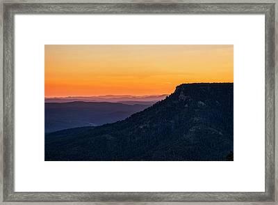 Framed Print featuring the photograph Last Light On The Rim  by Saija Lehtonen
