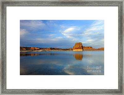 Last Light Over Lake Powell Framed Print