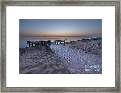 Last Light Over The Dunes Framed Print