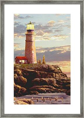 Last Light Segment 2 Framed Print