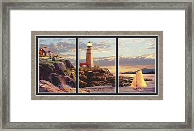 Last Light Split Image Framed Print