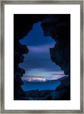 Last Light Through Lava Framed Print
