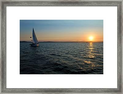 Last Light Framed Print by Tom Dowd