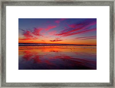 Last Light Topsail Beach Framed Print