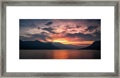 Last Light - Wide Framed Print