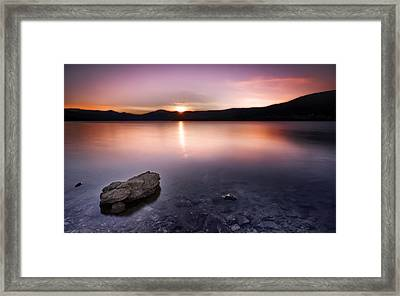 Last Lights Framed Print