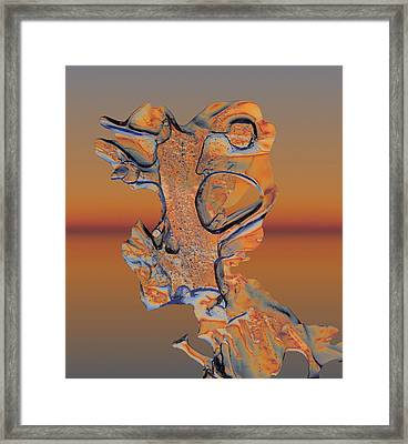Framed Print featuring the photograph Last Look At Sunset by Sami Tiainen