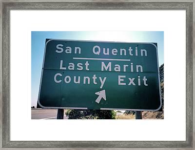 Last Marin County Exit Framed Print