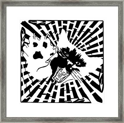 Last Maze The Mouse Sees Framed Print by Yonatan Frimer Maze Artist