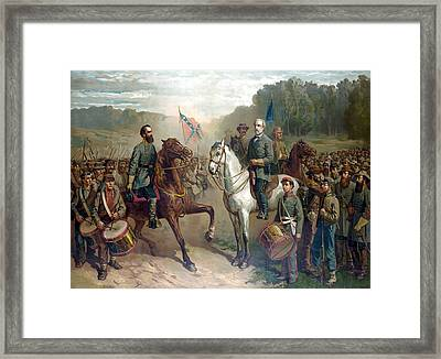 Last Meeting Of Lee And Jackson Framed Print
