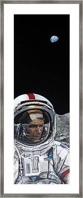 Last Men- Gene Cernan Framed Print