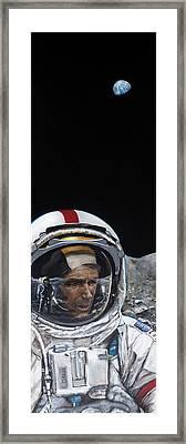 Last Men- Gene Cernan Framed Print by Simon Kregar
