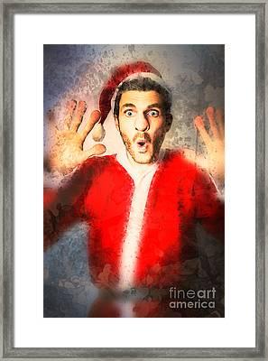 Last Minute Christmas Shopping Framed Print