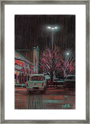Last Minute Shopping Framed Print by Donald Maier