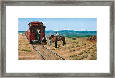Last Minute Trading At Santo Domingo Framed Print by Randall R Quick