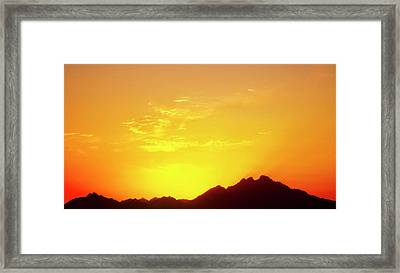 Last Moments Sunset In Africa Framed Print
