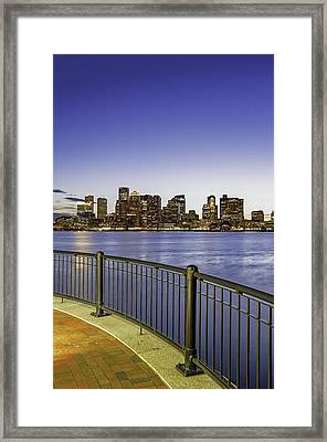 Last Night Sunset In Boston Framed Print by Juergen Roth