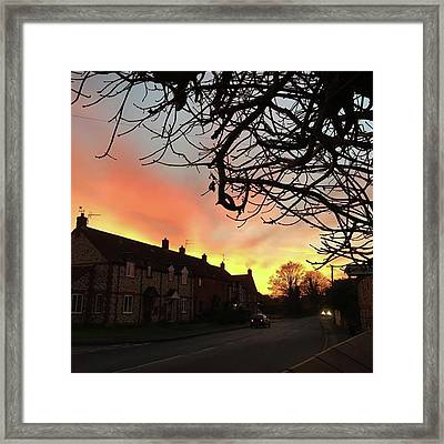 Last Night's Sunset From Our Cottage Framed Print